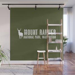 Deer: Mount Rainier, Washington Wall Mural