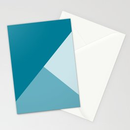 Gradient Geometry - Blue Stationery Cards