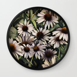 Cone Flowers Wall Clock