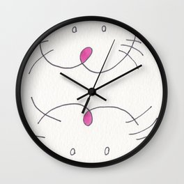 A MOUSE WITH SLIPPERS ON ITS FEET. Wall Clock