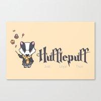hufflepuff Canvas Prints featuring Hufflepuff by Kiell R.