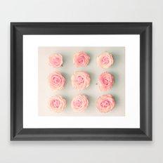 Nine roses, pink Framed Art Print