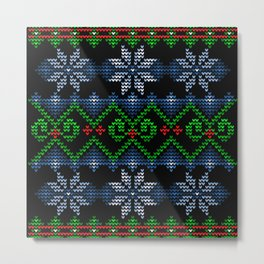Uglier Ugly Christmas Sweater Metal Print