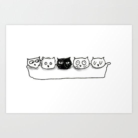 Cat Egg Art Print