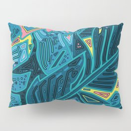 tropical leaves abstract 1 Pillow Sham