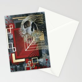 GEOMETRIC SKULL HEAT Stationery Cards