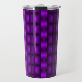 Fashionable large floral from small violet intersecting squares in stripes dark cage. Travel Mug