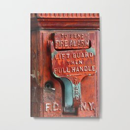 new york city ... fire alarm Metal Print