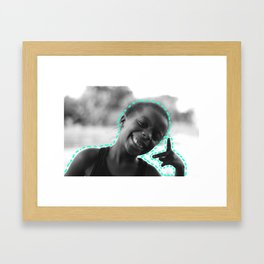 Peace & Happiness Framed Art Print