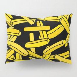 French Fries on Black Pillow Sham