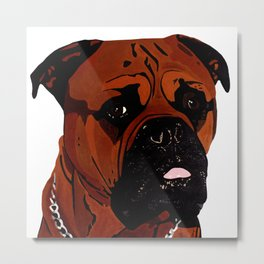 Kees, The Bullmastiff Metal Print