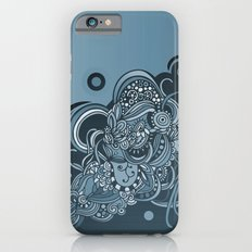 Detailed diagonal tangle, blue Slim Case iPhone 6s