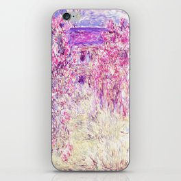 Monet : The House Among the Roses iPhone Skin