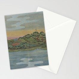 Lake view. Ukiyoe Landscape Stationery Cards