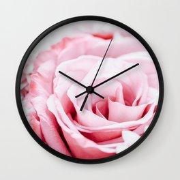Pink Roses and Gerbera Daisy Flowers Wedding Bouquet, Love Photo, Romantic Celebration, Wall Art Wall Clock