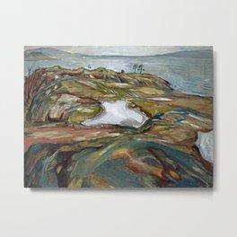 Edvard Munch - Coastal Landscape Metal Print