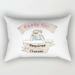 The Stuy-holic: Ready for the Required Classes Rectangular Pillow