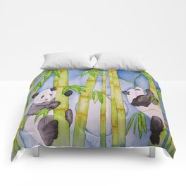 Playful Pandas by Moonlight Comforters