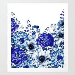 Midnight Blue (White Background) Art Print