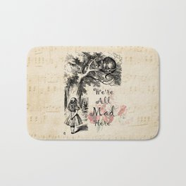 We're All Mad Here - Alice In Wonderland Bath Mat