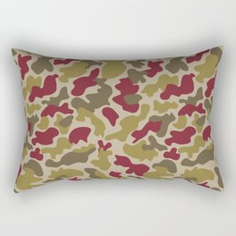 CUSTOM MOSS & BURGUNDY CAMO 5 Rectangular Pillow