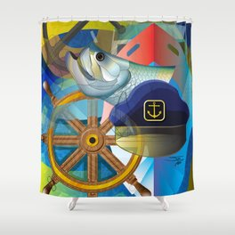 Nautical Design Shower Curtain