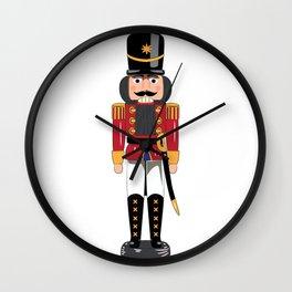 Christmas nutcracker soldier Wall Clock