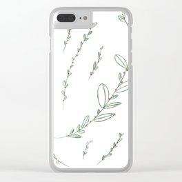 Mistletoe Winter Berry Clear iPhone Case
