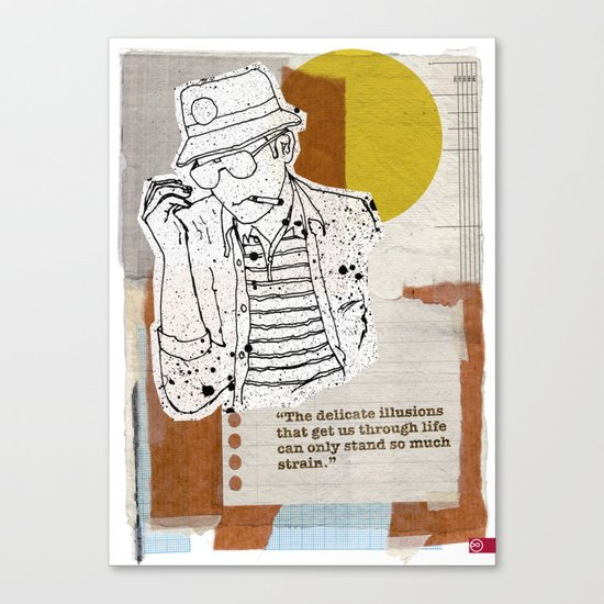 The Rum Diary…Hunter S Thompson Canvas Print