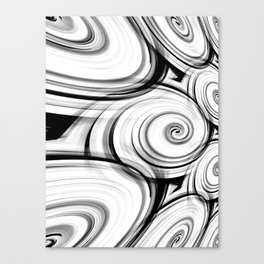 Black And White Swirls By Saribelle Rodriguez Canvas Print
