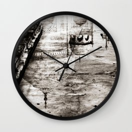 Reflection of the Taj Mahal Wall Clock