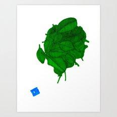 Still a Little Green Art Print