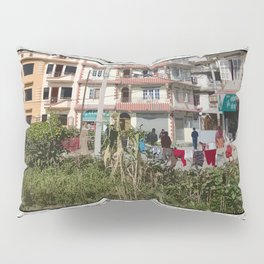 NEIGHBORHOOD ON THE EDGE OF KATHMANDU NEPAL Pillow Sham