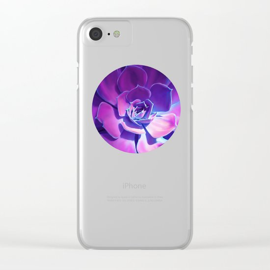 MOONLIGHT SUCCULENT Clear iPhone Case