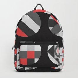 Geometric Circle Pattern Backpack
