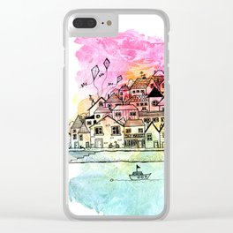 By the Harbour Clear iPhone Case