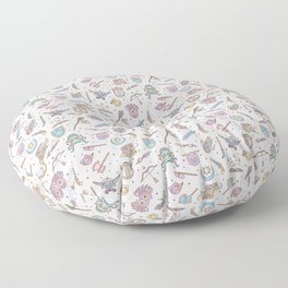 Cute Dungeons and Dragons Pattern Floor Pillow
