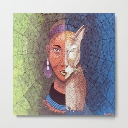 MAMA AFRICA (THE ANCIENT GODDESS OF STRENGTH AND BEAUTY) Metal Print
