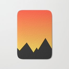 Mountains at Sunset (Red & Yellow) Bath Mat