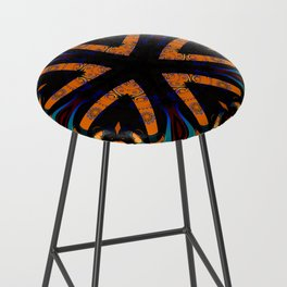 Tribal Geometric Bar Stool
