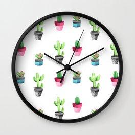 Watercolorcactus pattern Wall Clock