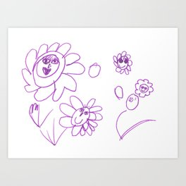 Plants with faces Art Print