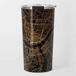 Cincinnati map, Ohio Travel Mug