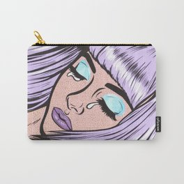 Lilac Bangs Crying Girl Carry-All Pouch