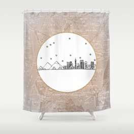 Cairo, Egypt (Giza), Africa City Skyline Illustration Drawing Shower Curtain