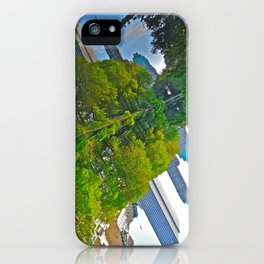 The Pond Reflections 4 - Central Park, NYC  iPhone Case