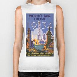 World's Fair Chicago 1933 Vintage Biker Tank