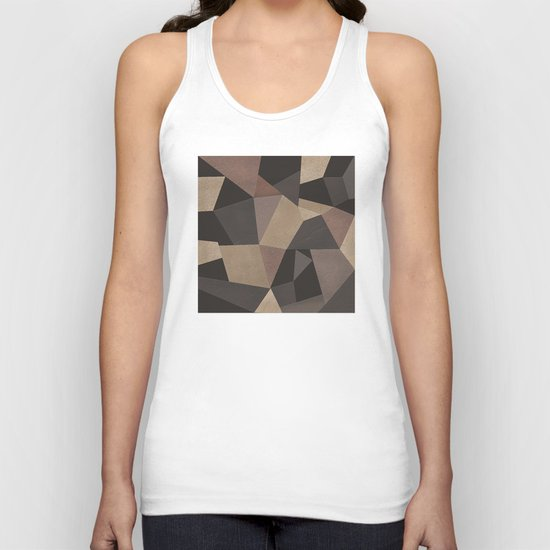 Brown pattern . Leather patches . Unisex Tank Top