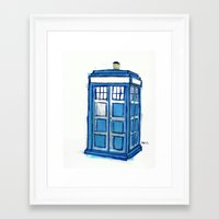 tardis Framed Art Prints featuring Tardis by Stepharooskie
