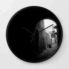 narrow street Wall Clock